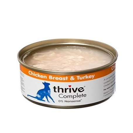 Latas de Pollo y Pavo 100% para gatos / thrive Complete Chicken Breast & Turkey