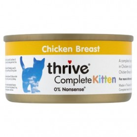 Latas de Pollo 100% para gatos Cachorros / thrive Kitten Complete Chicken