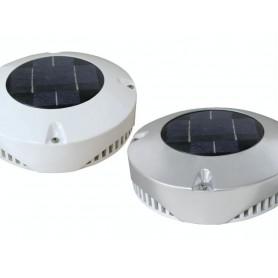 VENTILADOR CON PLACA SOLAR para remolques, boxes o Carrybox (24 horas sin sol)