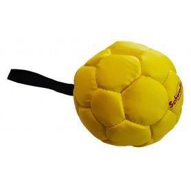 Lederball 14cm gelb