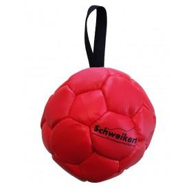 Lederball mit Schlaufe rot, 10 cm