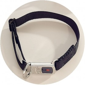 NYLONHALSBAND CLICK BLACK - Collar Negro HS Sprenger® Con Cierre de seguridad 21mm