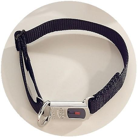 HS Sprenger® NYLON CLICK BLACK | Collar Nylon Cachorros Con Cierre de seguridad