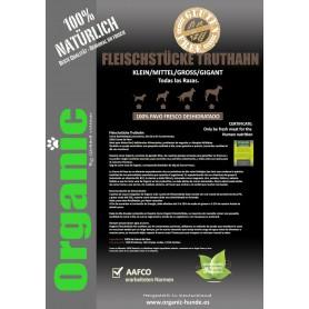 Organic FLEISCHSTÜCKE TRUTHAHN - Carne de Pavo fresco para perros