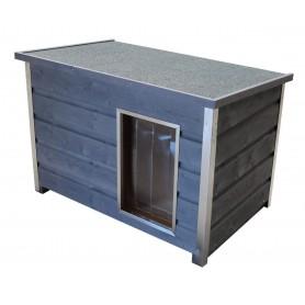 WETTERFESTE - FLACHDACH Caseta para perros de madera