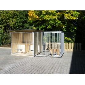 Caseta para perros de 2x4 con parque
