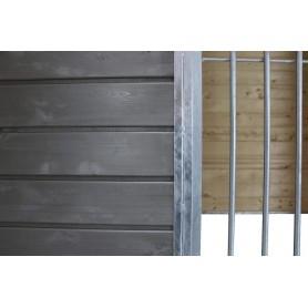 Holzelement Sonderserie Graphitgrau   Panel de Madera Lateral Color Grafito para Boxes Perros