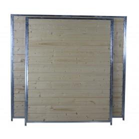 Holzelement Sonderserie naturbelassen | Panel Lateral de Madera Boxes para perros